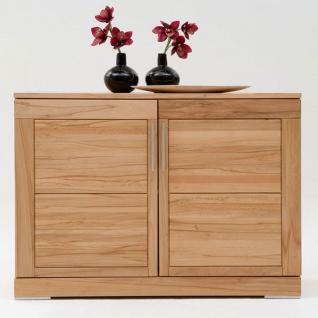 Wimmer Casera Sideboard 2-türig Korpus und Front Massivholz naturbelassen geölt Holzausführung Griffausführung wählbar für Ihr Wohnzimmer oder Esszimmer