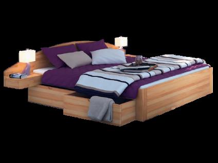 Neue Modular Primolar Bett Parma mit Bettkastenfunktion Kopfteil und Nachttisch Cantu Liegefläche 180x200 cm