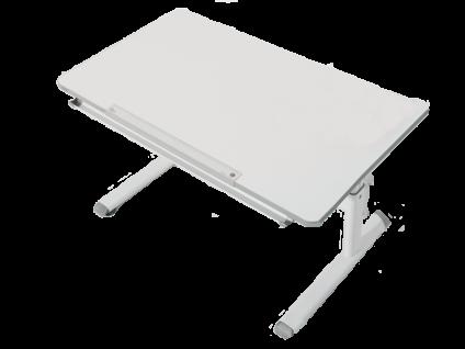 Paidi Schoolworld Diego 120 Schreibtisch höhenverstellbar und Schrägstellung der Tischplatte möglich Gestell in weiß und Tischplatte in kreideweiß