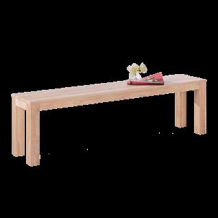 Elfo-Möbel Sitzbank 5499 in Wildeiche massiv Sonoma Holzbank ca. 160 cm breit ohne Lehne für Speisezimmer oder Wohnzimmer - Vorschau 1