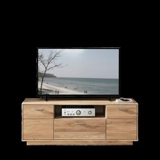Wohn-Concept Topaz Lowboard 46 03 HM 30 in Wildeiche bianco Massivholz TV-Unterteil mit Türen Schubkasten und offenem Fach für Ihr Wohnzimmer