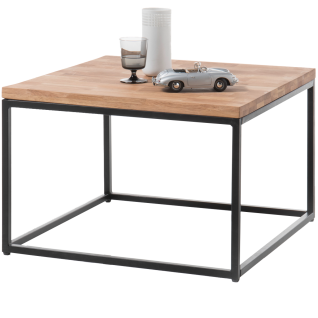 MCA furniture Couchtisch Sakura Art.Nr. 58890AS9 quadratische Tischplatte Asteiche Massivholz geölt Gestell Metallrahmen Schwarz