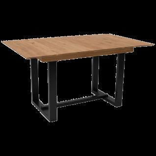 Standard furniture Esstisch Gordes mit schwarz lackiertem Massivholzgestell Ausführung der Tischplatte und Größe wählbar