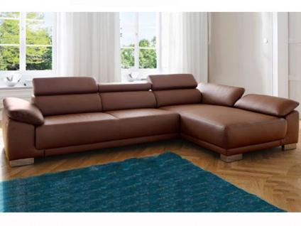 Candy Ecksofa Emporia Sofa 2 Sitzer oder 3 Sitzer + Ottomane Polstermöbel für Wohnzimmer in Stoff -oder Lederbezug wählbar