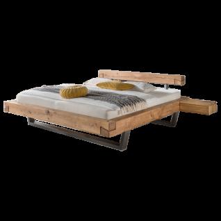 TPT Möbel GmbH Schwebebalkenbett IV Liegefläche von ca. 140 - 200 x 200 cm wählbar optional mit Hänge-Nachtkommode