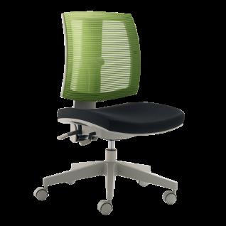 Mayer Sitzmöbel myFLEXO 2432-503 Kinderdrehstuhl Bezug grün/schwarz Gestell grau für Kinder- und Jugendliche