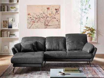 Willi Schillig Softy Plus 12311 Solano Eckcouch mit Longchair links und 2 Sitzer Sofa groß mit Kopfstützensverstellung Seitenteilkissen und chromglänzenden Metallfüßen Bezug wählbar - Vorschau 3