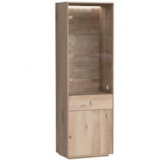 Dkk Klose Kollektion K32 Kastenmöbel Vitrine mit Schubkasten und 2 Türen davon 1 Glastür Massivholz Beimöbel für Esszimmer Holzfarbton wählbar