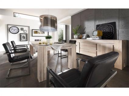 Bodahl Mobler Boston Anrichte 10055 rustic oak Massivholz mit zwei Türen und zwei Schubkästen Sideboard für Wohnzimmer oder Esszimmer in sieben Ausführungen wählbar - Vorschau 2