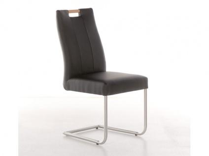 Standard Furniture Stuhl Jana aus dem Stuhlsystem Shake it Polsterstuhl mit Holzgriff für Esszimmer Gestellausführung und Bezug in Echtleder oder Kunstleder wählbar