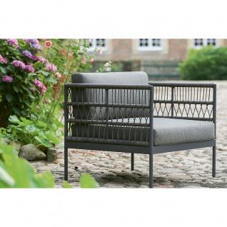 Niehoff Garden Azuri Loungesessel G159-100-052 Einzelsessel mit Kordelflechtung Gestell in Aluminium Anthrazit und inkl. Sitz- und Rückenkissen in Stoff basalt für Ihren Garten oder Terrasse - Vorschau 2