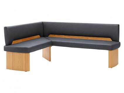 Schösswender Ontario 300 Eckbank für Esszimmer mit Holzwangen mit wählbarer Holzausführung und wählbarer Rückenlehne mit wählbarem Bezugsmaterial in verschiedenen Farben in verschiedenen Größen lieferbar