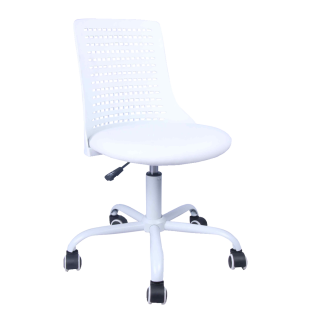 Drehstuhl für Kinder weiß myCHARLY gepolsterte Sitzschale und 360 Grad  drehbar Schreibtischstuhl für Schulanfänger