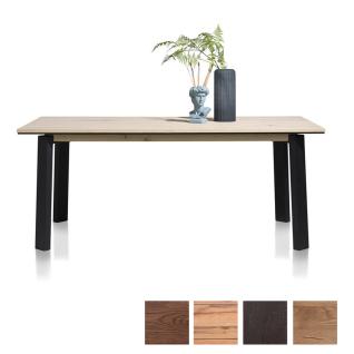 Habufa Moreni Esstisch mit Vierfußgestell mit furnierter Tischplatte in Eiche Holzfarbe Größe und Gestellausführung wählbar