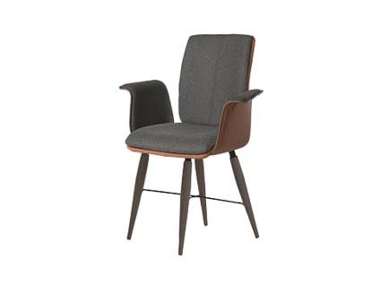 Bert Plantagie Stuhl Tara Cross Komfort 836C mit Bi-Color-Mattenpolsterung Polsterstuhl für Esszimmer Speisezimmerstuhl mit gepolsterten Armlehnen Gestellausführung Naht Reißverschlußfarbe und Bezug wählbar