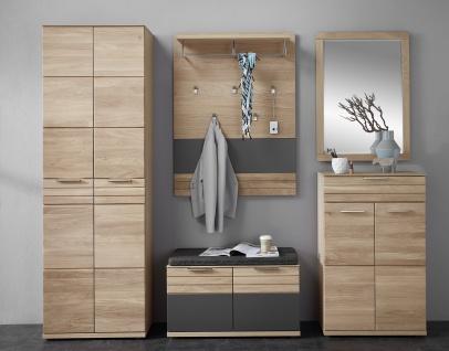 Wohn-Concept Achat Garderobenkombination in Wildeiche teilmassiv mit viel Stauraum Art Nr 65 03 HH 80 mit Metallgriffen ideal für Ihren Flur