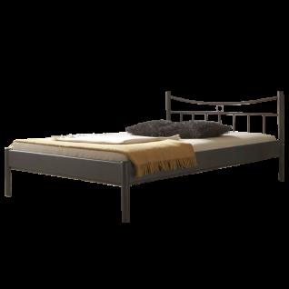 Dico Möbel Metallbett Mercury bestehend aus Bettrahmen SImone sowie Kopfteil Svenja Liegefläche und Farbausführung wählbar