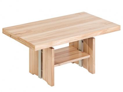 Vierhaus Couchtisch IL-Kombi-Quer-KQ 2317 Tischplatte ca. 120x75 cm Ecken kubisch, ausziehbar und höhenverstellbar, Farbausführung, Ablageboden und Rollensatz wählbar