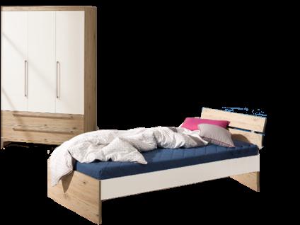 Paidi Remo Jugendzimmer bestehend aus einer Liege 90x200 cm und Kleiderschrank 3T2S optional mit Nachtkommode
