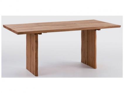 Schösswender Oviedo Baumtisch in Wildeiche geölt Massivholz ohne Auszug mit Mittelfuge ideal für Ihr Esszimmer