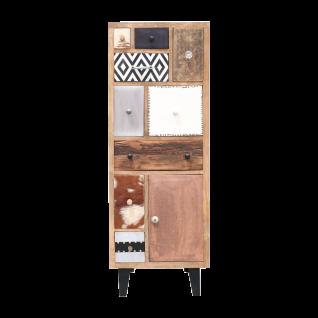 online@more by Niehoff Mango Highboard aus Mango Massivholz mit schwarzen Retro Füßen für Ihren Wohn- und Essbereich