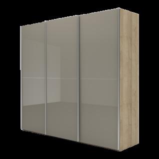 Nolte Möbel Marcato 2.2 Schwebetürenschrank Ausführung 2 mit 3 waagerechten Sprossen Korpus in Dekor und Front Glas Farbausführung Schrankgröße