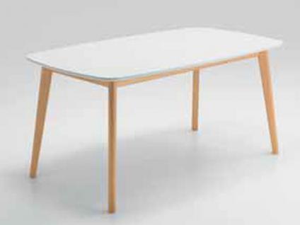 Niehoff New Young Collection Tisch Soho 4673 Bootsform mit fester Platte aus der Young Collection Holzausführung des Gestells und Tischbreite wählbar Tischplatte MDF weiß