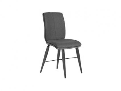 Bert Plantagie Stuhl Tara Cross Komfort 816C mit Uni-Mattenpolsterung Polsterstuhl für Esszimmer Speisezimmerstuhl ohne Armlehnen Gestellausführung Naht Reißverschlußfarbe und Bezug wählbar