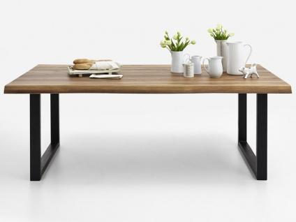 Bodahl Nature Esstisch rustic oak mit U-Beinen und Baumkante Massivholz Tisch ca. 100 cm breit Speisezimmertisch in vier Längen und sieben Ausführungen wählbar