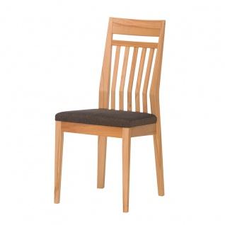 DKK Klose S34 Stuhl 3390 ohne Armlehnen mit Sprossen - Rückenlehne und gepolstertem Sitz Polsterstuhl für Esszimmer Gestell in Massivholz Ausführung Sitzkomfort und Bezug wählbar