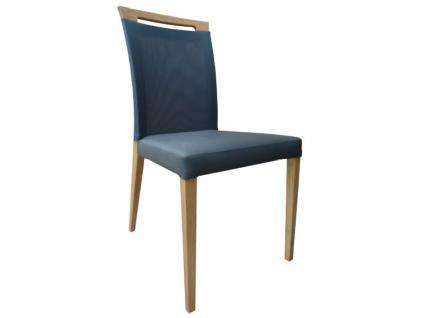 DKK Klose Stuhl S44 mit Griff und Komfortschaumpolsterung im Sitz und Netzspannstoff im Rücken Stuhl für Wohnzimmer und Esszimmer Bezug in vielen Stoffen und Echtleder wählbar