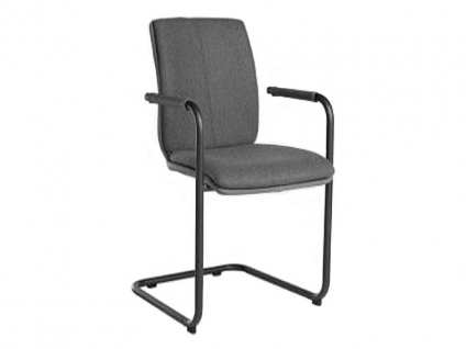Bert Plantagie Stuhl Tara Freischwinger Komfort 824C oder 827C mit Uni-Mattenpolsterung Polsterstuhl für Esszimmer Esszimmerstuhl mit wählbarer Gestellausführung Bezug in Leder oder Stoff wählbar