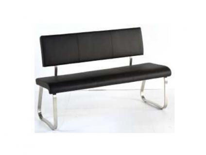 MCA furniture Sitzbank Arco Bezug Kunstleder 155x59 cm Gestell Edelstahl gebürstet Flachrohr Esszimmer Wohnzimmer Ausführung wählbar