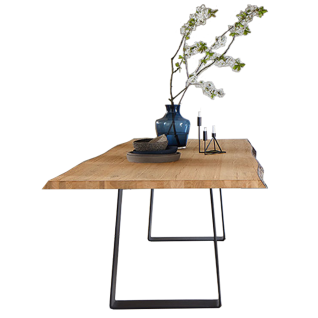 S-KULTUR by Wöstmann Natural Arts Tischsystem mit Gestell Variante A Esstisch mit fester Platte für Ihr neues Esstimmer Breite Länge Gestellausführung und Tischplattenausführung wählbar