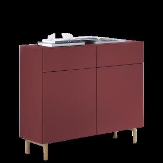 Innostyle Kommodenprogramm K2 Kommode Front rot MDF lackiert Korpus rot matt Art.Nr. 50087725 Kommode für Ihr Wohn-oder Esszimmer
