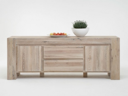 Bodahl Mobler Boston Anrichte 10055 rustic oak Massivholz mit zwei Türen und zwei Schubkästen Sideboard für Wohnzimmer oder Esszimmer in sieben Ausführungen wählbar