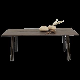 Bodahl Concept 4 you Esstisch Rustic Oak mit Schweizer Kante Tischplatte Massivholz und Eisengestell ideal für Ihr Esszimmer