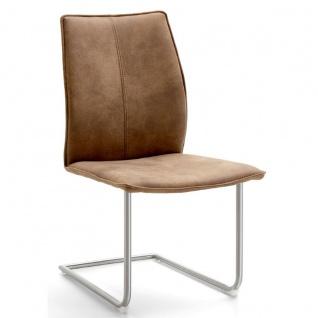 Niehoff Stuhl Capri 7341 mit Schwingstuhlgestell Rundrohr Gestellfarbe und Bezug wählbar ideal für Ihr Esszimmer - Vorschau 3