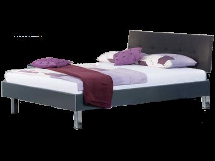 Neue Modular Primolar Livorno plus Bett bestehend aus Bettrahmen mit Polsterkopfteil Bergamo und Eckfüße verchromt Liegefläche ca. 180x200 cm