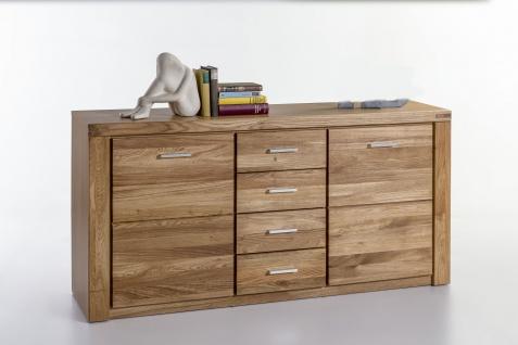 Elfo-Möbel Tabea Sideboard 2336 mit 2 Holztüren 4 Schubfächern Wildeiche teilmassiv geölt für Wohnzimmer oder Esszimmer