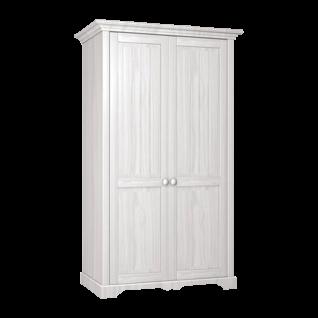 Schlafkontor Cinderella Premium Kleiderschrank 2-türig oder 3-türig wählbar in Kiefer weiß lackiert