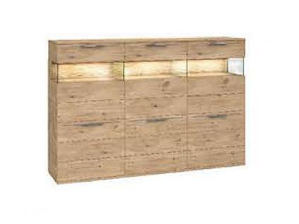 Dkk Klose Kollektion K20 Kastenmöbel Highboard Schrank geölt oder mit Wachseffektlack Kommode für Wohnzimmer oder Esszimmer mit Glastüren Anrichte Größe Ausführung und Zubehör wählbar - Vorschau 5