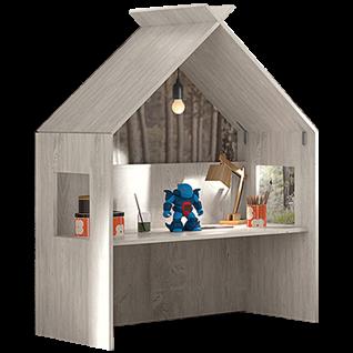 Röhr-Bush cottage Spielhaus mit Schreibplatte in Nordic Pine Nachbildung