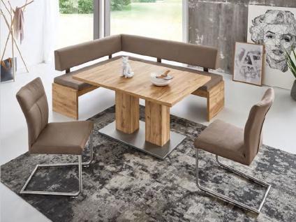 Niehoff Melina dekorative Eckbank Sitz und Rücken vollgepolstert Sitzbank für Esszimmer oder Wohnzimmer Dekorausführung Stellvariante und Bezug wählbar - Vorschau 3