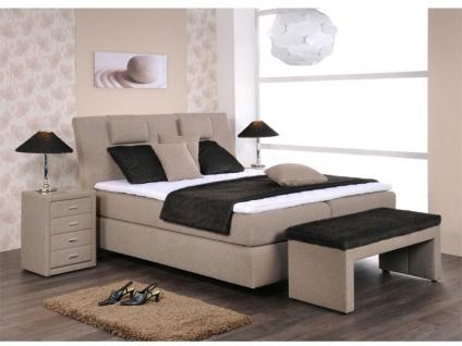 Oschmann Belcanto Boxspringbett Royal 4 **** Sterne für Schlafzimmer Bett in Größe Füsse Kopfteil Härtegrad Topper und Stoffgruppe wählbar
