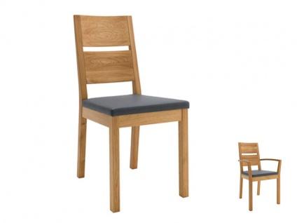 Wimmer Silent2 Stuhl Rücken und Untergestell aus Holz Sitz fest gepolstert mit geteilter Rückenlehne für Ihr Esszimmer und Ihre Küche
