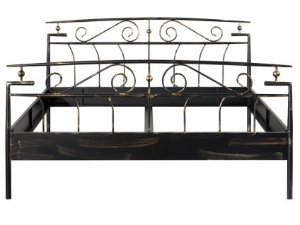 Neue Modular Punto Florenz Bett aus Metall schwarz lackiert und Gold verwischt Liegefläche ca. 180x200 cm optional mit passenden Nachttisch und Sitzbank Florenz