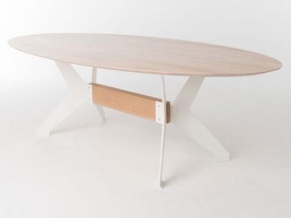 Bert Plantagie Tisch BIXX mit ovaler Massivholzplatte Esstisch ohne Funktion für Esszimmer Tischplattenausführung Gestellausführung und Größe wählbar