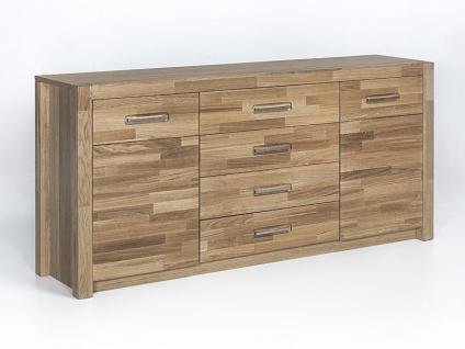 MCA Direkt Sideboard FEN14T01 Fenja Wildeiche teilmassiv 4 Schubkästen und 2 Türen für Wohnzimmer oder Esszimmer