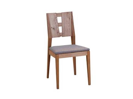 DKK Klose Polsterstuhl S22 für Küche oder Esszimmer Holzrücken geteilt mit Quersprossen Holzfarbton wählbar Schaumstoffpolsterung im Sitz in wählbaren Stoff- und Lederbezügen